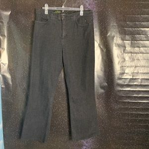NYDJ- Off Black Wide Leg Jeans size 18